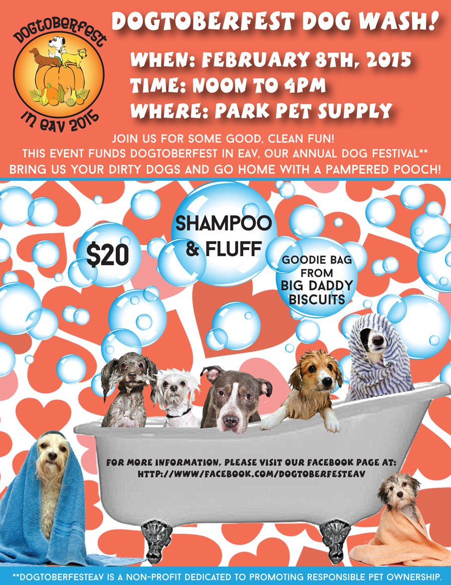 Dogtoberfest Dogwash flyer